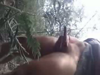 Public Jerking in the Woods