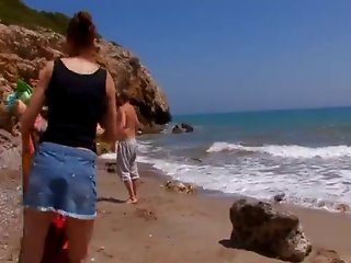 French teen redhead fucked on the beach