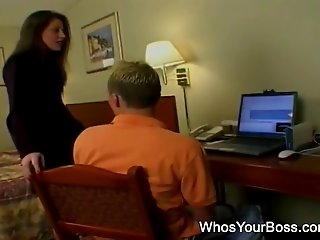 Horny guy getting banged by a femdom