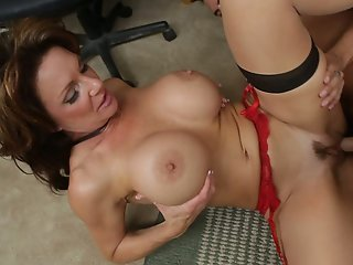 I found my friend's mom at home and I fucked her