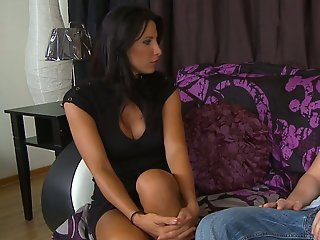 Lezley Zen is comforting her son's friend