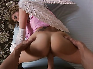Bitchy Cupid gets fucked from behind