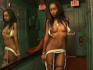 A party girl spreading on camera