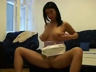 Polish GF with big natural tits fucking on camera