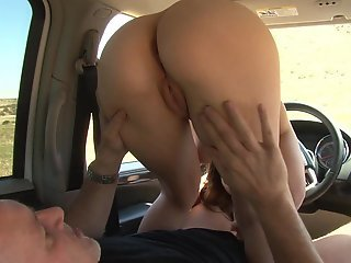 Monica gets hardcored in a car