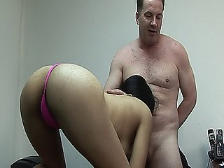 Brunette Slut Andrea Kelly Gets Her Hairy Cunt Fucked Hard