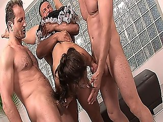 Naughty Maid Jeny Baby Getting Banged By Three Guys