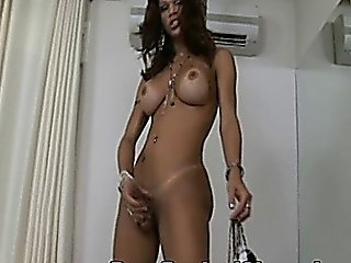 Feisty Shemale With Sexy Tanned Lines Pounded Hard