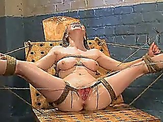 Busty Blonde Hottie Gets Slave Training