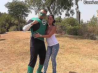 Slut Fucked Strongly In A Green Lantern Xxx Parody