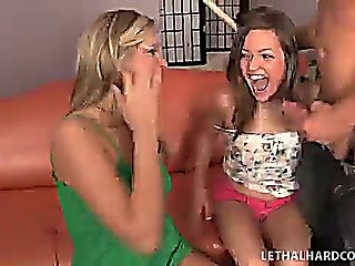 Darcy Tyler And Ashlynn Leigh Get Fucked Hard By One Cock
