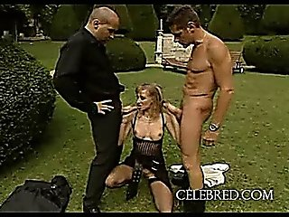 Blonde Slut Gets Double The Pleasure Blowjob Outdoor Blonde Anal Threesome Stockings Hardcore Small Tits