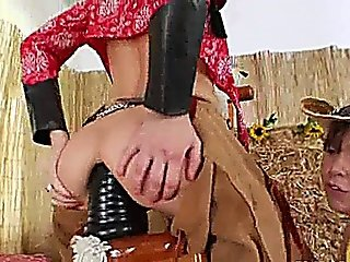 Brutal Ass Threesome With Cowboy