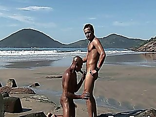 Latino Gay Hot Bareback Sex On The Sand