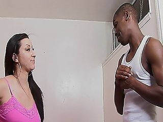 Sexy Brunette Bitch Gets Fucked By A Big Black Dick