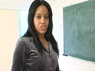 Mature Black Teacher Getting Her Pussy Fucked By One Of Her Students