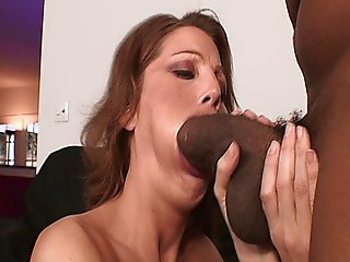 Sky Rodgers Stuffs Her Mouth And Pussy With Black Cock