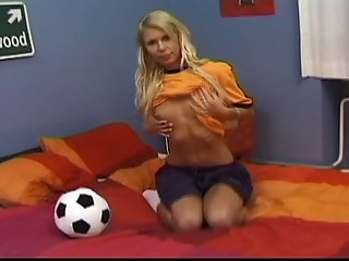 Dirty Soccer Teen Slut Masturbates With A Rubber Cock