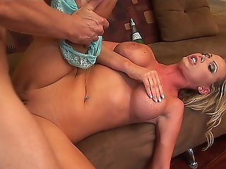 Hot Blonde Milf Nikki Benz Rides A Big Dick