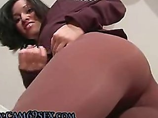 Joi Miss Lopez In Pantyhose Masturbates And Instructs You How To Ejaculate
