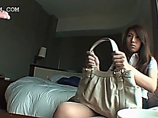 Shy Teenage Asian Cutie Gets Talked Into Sex In A Hotel Room