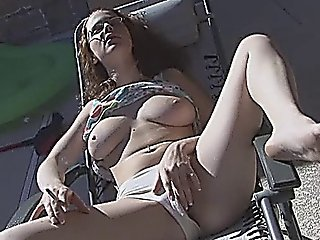Smoking While Fingering Pussy Outdoors