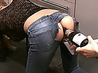 Bizarre Anal Champagne Bottle Fuck And Fisting