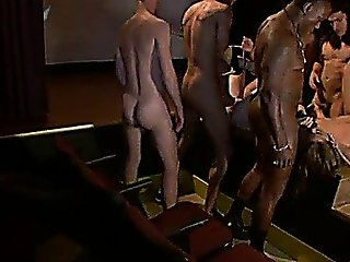 Bound Babes Orgy Pounded In Public