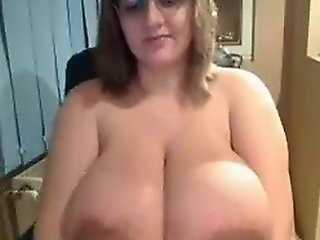 Ugly Chick Shows Off Insane Tits