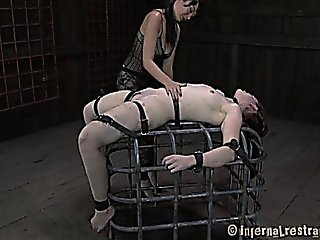 Slave Girl On Cage