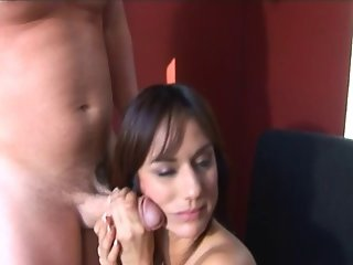 Beautiful Girlfriend Strokes And Sucks His Boner Until He Squirts