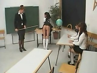 German Schoolgirl Spanked