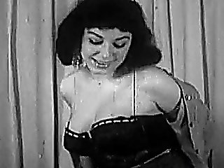 Beautiful Busty Brunette Bares It All