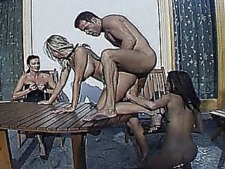 Hardcore Group Sex Scene With 1 Cock And Three Hot Babes