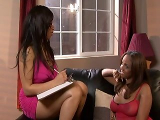 Two Hot Ebony Dykes Testing Sex Toys On Each Other