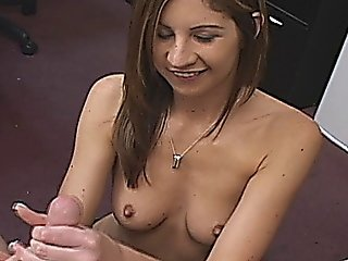 Pretty Brunette Office Girl Blowjobs