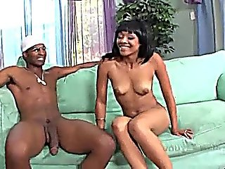 Black Girl Sucking And Riding A Stiff Cock