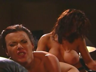 Hot Lesbian Sluts Eat Snatch And Fuck With A Strap-on Cock