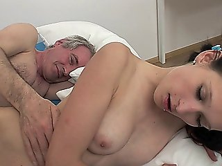 Sexy Teen Slut Enjoys Getting Banged By An Old Fart