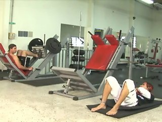 Gay Brazilian Fitness Instructors Pump Cock And Ass At The Gym