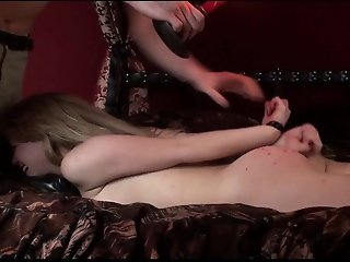 Hot Blonde Slut Masha Gets Tied Up And Has Candle Wax Poured On Her Butt