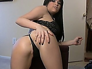 Black-haired Emo Bitch Shakes Her Perfect Ass And Teases You