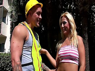 Hot Blonde Milf Gets Fucked By A Construction Worker