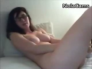 Geek With Glasses Fuckes Her Nerdy Pussy On Webcam