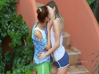 Romantic lesbo adventure from europe