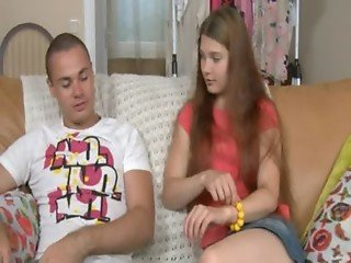 Amazing russian teen ass sex on a sofa