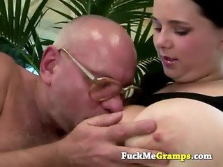 Mandy sucking old dirty cock