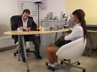 Young Teen Seduced by Boss in Office Job interview