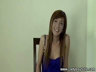 Ladyboy masturbates after doing striptease