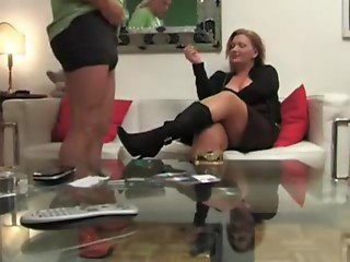 German Mature Woman Jerks off younger guy www.hdgermanporn.com ! German-Mature-porn